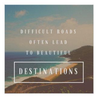 Póster Los caminos difíciles llevan a los destinos