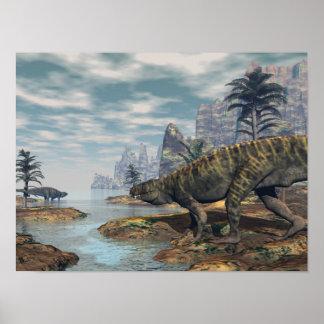 Póster Los dinosaurios -3D de Batrachotomus rinden