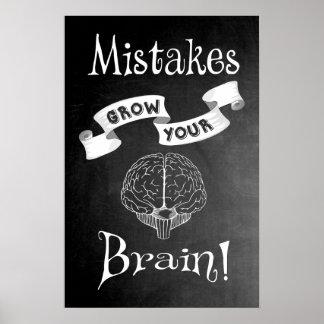 Póster Los errores crecen su cerebro