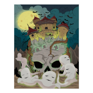 Póster Los fantasmas del castillo del cráneo vuelan