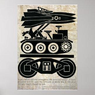 Póster Los ferrocarriles movieron el 90% de toda la carga