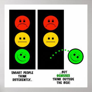 Póster Los genios cambiantes de la luz de parada piensan