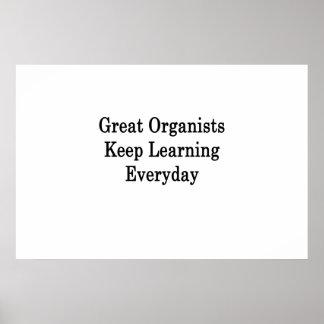 Póster Los grandes organistas mantienen el aprendizaje