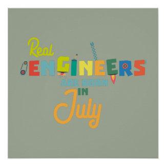 Póster Los ingenieros son en julio Z6n9z nacidos