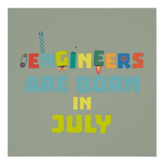 Póster Los ingenieros son en julio Zw3c8 nacidos