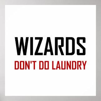 Póster Los magos no hacen el lavadero