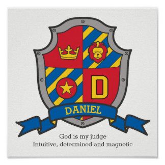 Póster Los muchachos de Daniel nombran el escudo de la