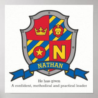 Póster Los muchachos de Nathan nombran el escudo de la