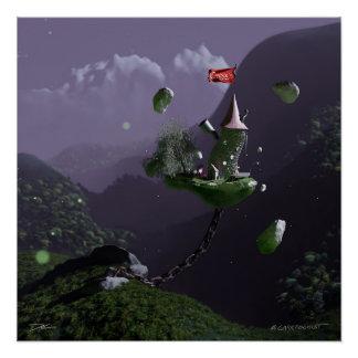 Póster Los objetos curiosos de Casper - la torre flotante