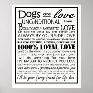 Póster Los perros son poster del amor