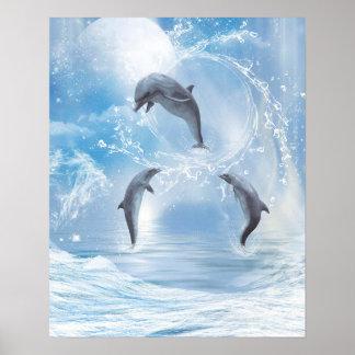 Póster Los sueños de delfínes