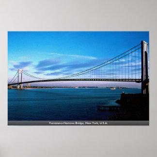 Póster Los Verrazano-Estrechos tienden un puente sobre,