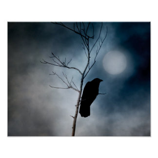 Póster Luna cambiante del cuervo