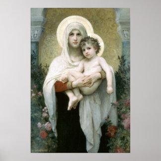 Póster Madonna de los rosas