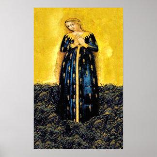 Póster Madonna del poster del trigo