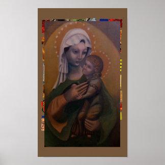Póster Madonna y niño