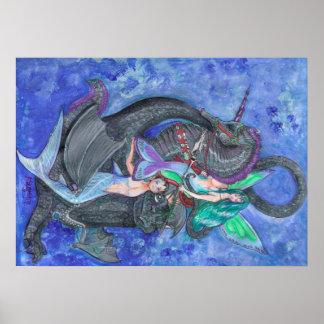 Póster Magia de hadas de la fantasía del duende del
