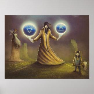 Póster magia de la fantasía del mago