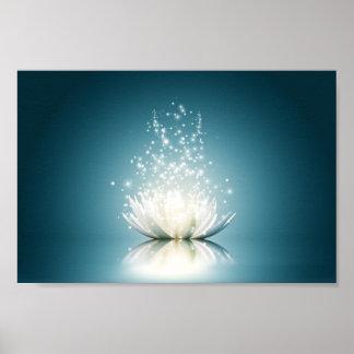 Poster mágico blanco de Lotus mini Póster