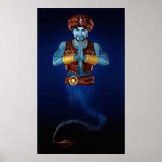 Poster mágico de los genios de la lámpara