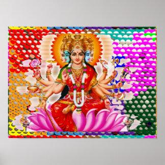 Póster Maha Laxmi: Diosa de la riqueza