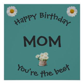 Póster Mamá del feliz cumpleaños