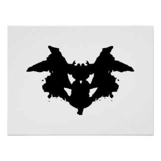 Póster Mancha de tinta de Rorschach
