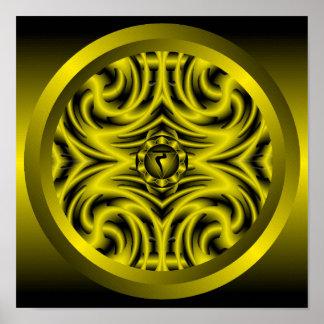 Póster Mandala de Chakra del plexo solar