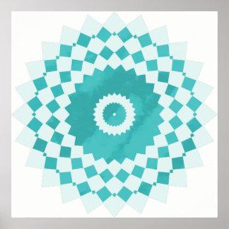 Póster Mandala del cielo azul