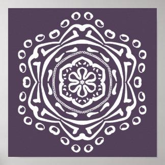 Póster Mandala del ciruelo
