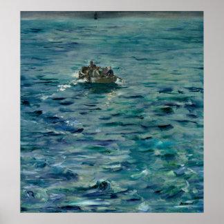 Póster Manet el | el escape de Enrique de Rochefort