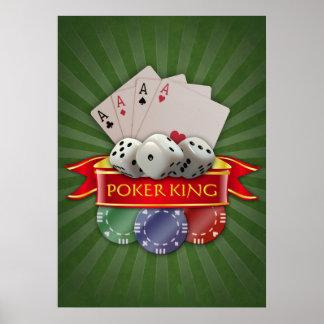 Póster Manía del póker - las tarjetas, cortan en