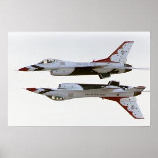 Póster Maniobra de los Thunderbirds - espejo
