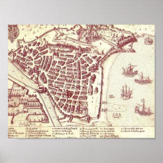 Póster Mapa agradable de Francia