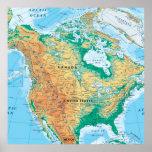 Póster Mapa de Norteamérica