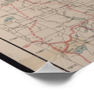 Póster Mapa del bosque del Estado de 1928 superiores -