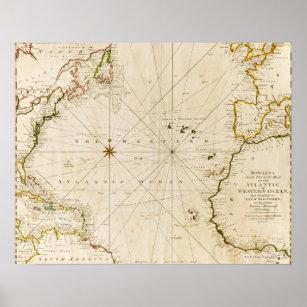 Póster Mapa del mundo antiguo