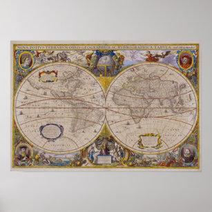 Póster Mapa del mundo antiguo 2
