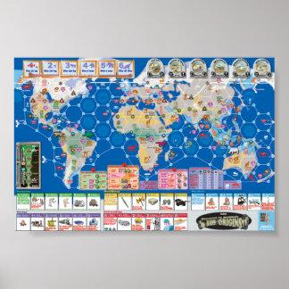 Póster Mapa del poster de los Bíos-Orígenes