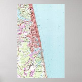 Póster Mapa del vintage de Virginia Beach (1965) 2