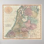 Póster Mapa del vintage del holandés (1799)