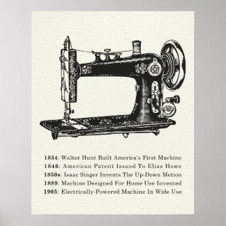 Póster Máquina de coser del vintage
