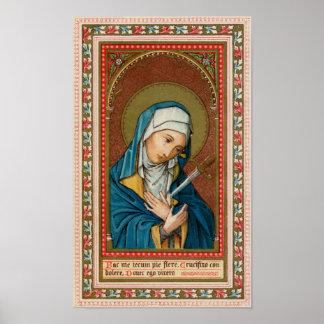 Póster Maria como Mater Dolorosa (madre de los dolores)