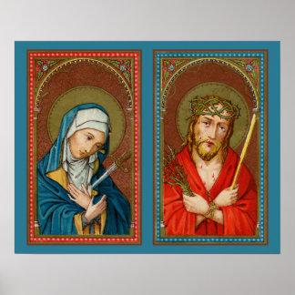 Póster Maria, Mater Dolorosa y Jesús, homo de Ecce