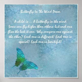 Póster Mariposa en el viento