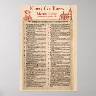 Póster Martin Luther 95 tesis (latín original)
