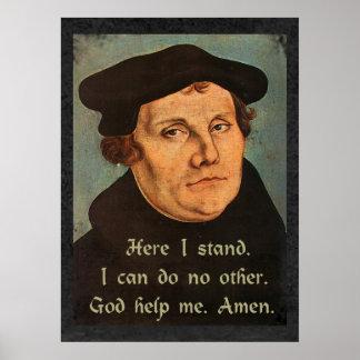 Póster Martin Luther aquí coloco la cita religiosa