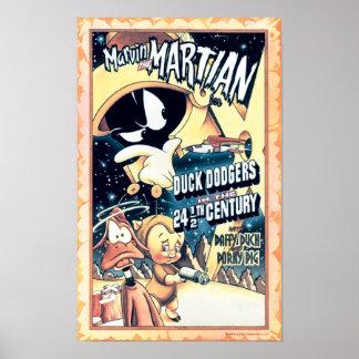 Póster MARVIN EL MARTIAN™, EL DAFFY DUCK™ y el Elmer Fudd