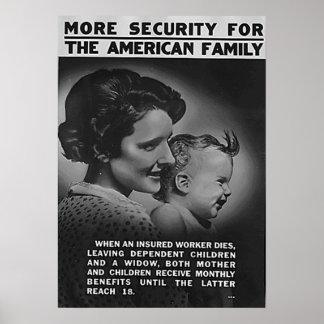 Póster Más seguridad para la familia americana