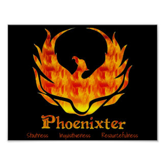 Poster: Mascota y valores de Phoenixter Póster